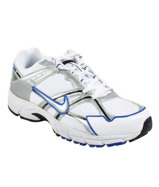 Nike Energetic White & Blue Sports Shoes