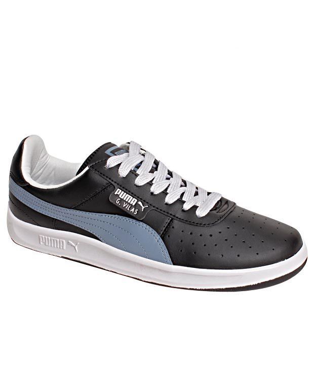 Puma G- Vilas L2 Black   Sky Blue Lifetsyle Shoes - Buy Puma G- Vilas L2  Black   Sky Blue Lifetsyle Shoes Online at Best Prices in India on Snapdeal 5dfcf0cb2