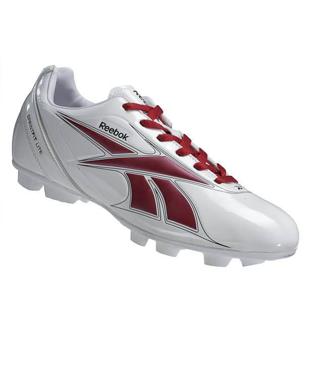 Reebok Sprint Fit Lite White & Red Soccer Shoes