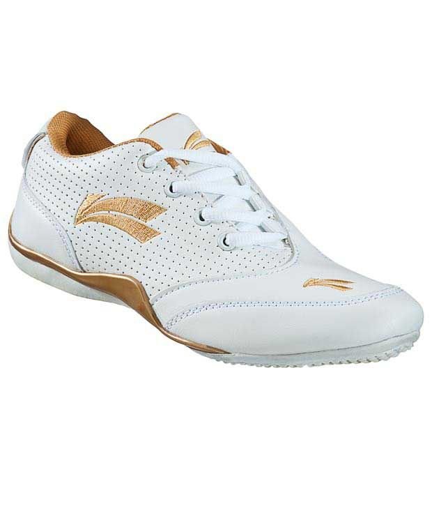Universal Active White & Golden Casual Shoes
