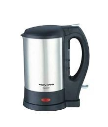 Morphy Richards 1 Ltr Impresso SS Electric Kettle Silver Black