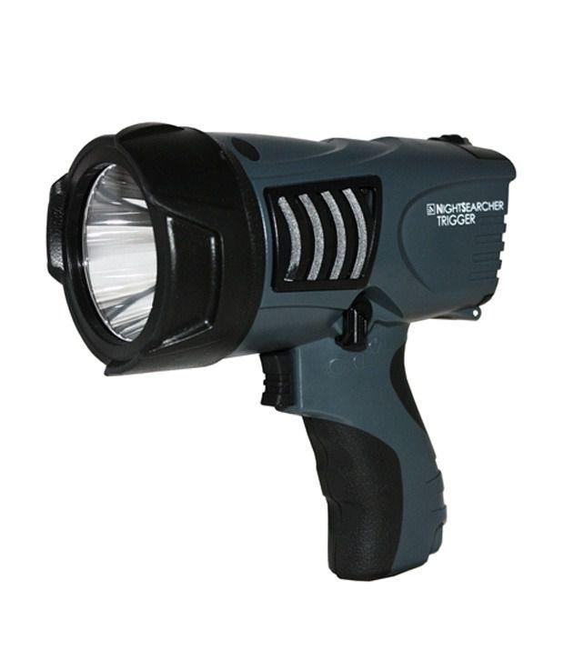 Night Searcher Spotlight Trigger Rechargeable Emergency Light