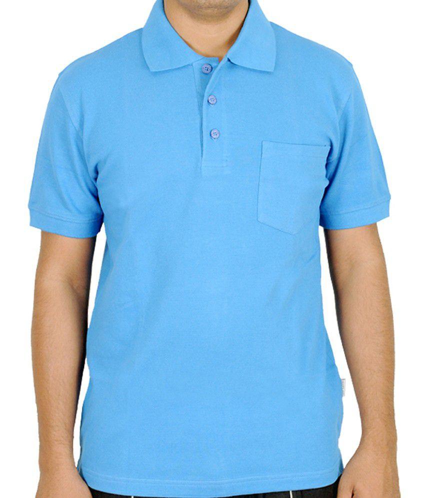 Scorpion Fashions Light Blue Polo T Shirt With Pocket ...