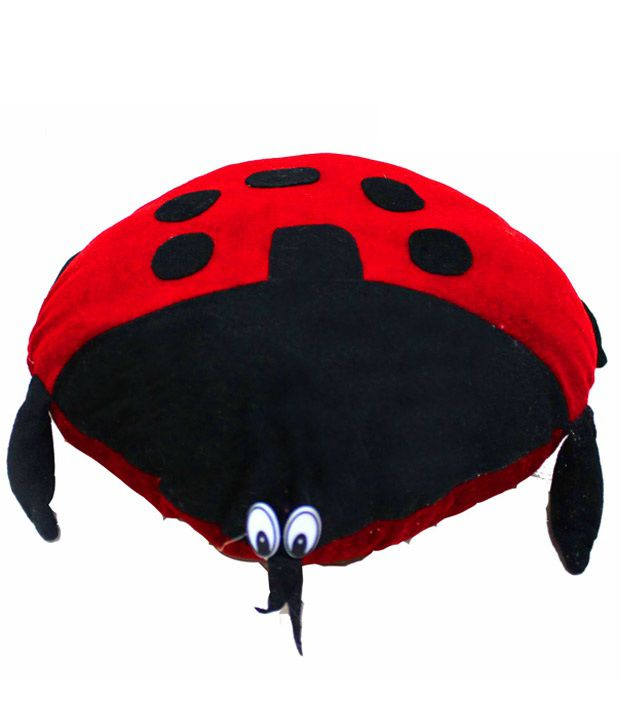Dekor World Red Black Lady Bird Cushion Buy Dekor World