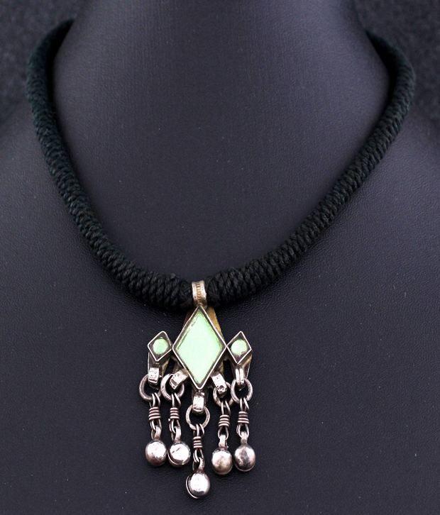 aa14bc7db5 ... Black Thread Necklace With Silver Pendant: Buy 925 Silver Designer  Handwoven Black Thread Necklace With Silver Pendant Online in India on  Snapdeal