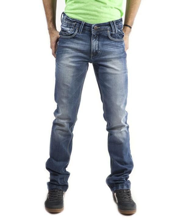 Gesture Unique Blue Faded Jeans