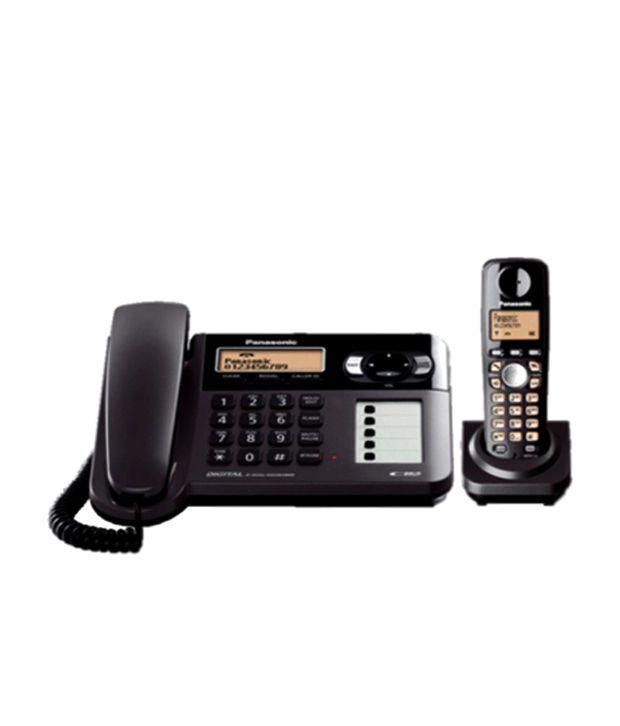 1e8b3fae6 Buy Panasonic Kx-tg3651 Cordless Landline Phone ( Black ) Online at Best  Price in India - Snapdeal