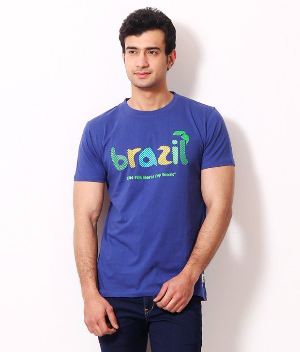 Riot Impressive Blue Graphic T Shirt