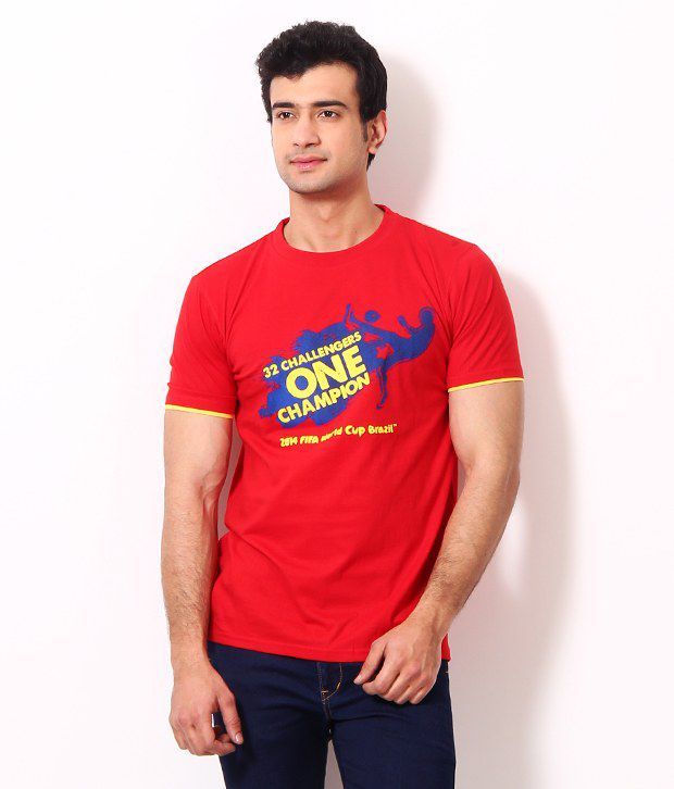 Riot Stylish Red Graphic T Shirt