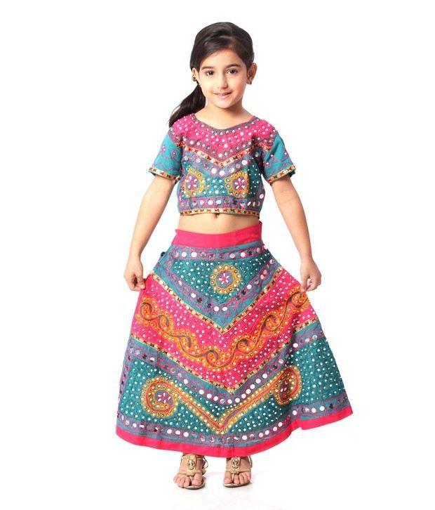 3a5b53cd49 Kidzblush A Beautiful Pink and Turquoise Color Traditional Lehenga Choli  For Kids - Buy Kidzblush A Beautiful Pink and Turquoise Color Traditional  Lehenga ...