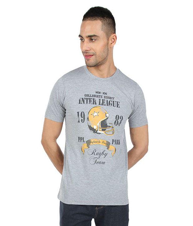 Proline Gray Inter League Rugby T-Shirt