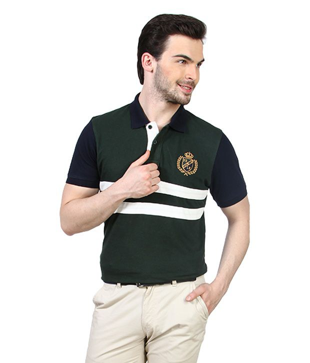 Proline Green Authentic Sports Polo T Shirt