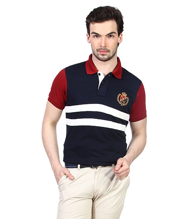 Proline Navy Authentic Sports Polo T Shirt