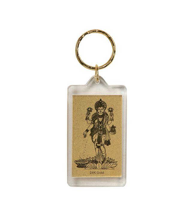 Aarya24kt Standing Laxmi Keychain