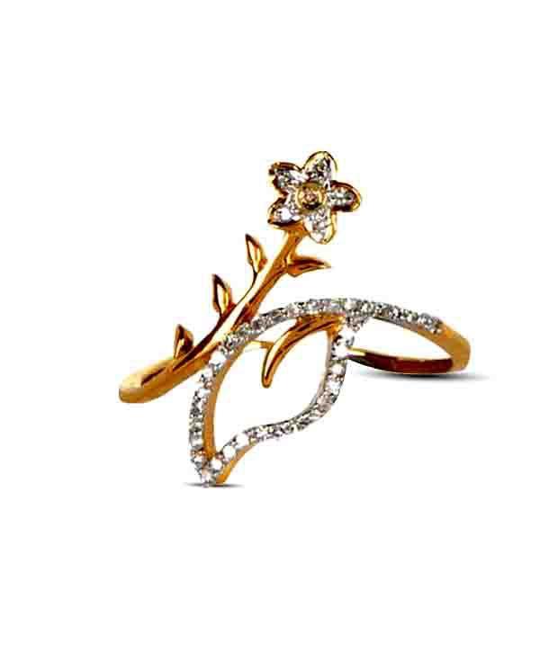 Avsar 18 kt Gold & Diamond Dazzling Ring