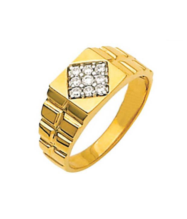 Avsar Diamond & Gold Rolex-Look Men's Ring