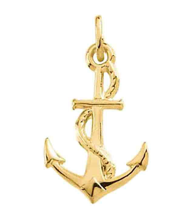 Avsar gold captivating anchor pendant buy avsar gold captivating avsar gold captivating anchor pendant aloadofball Images