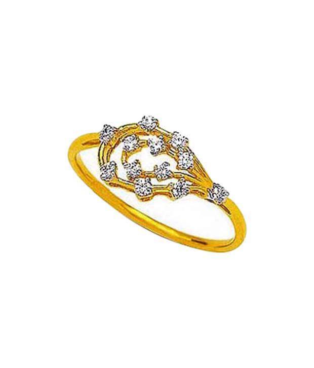 Avsar Sparkling Gold & Diamond Ring