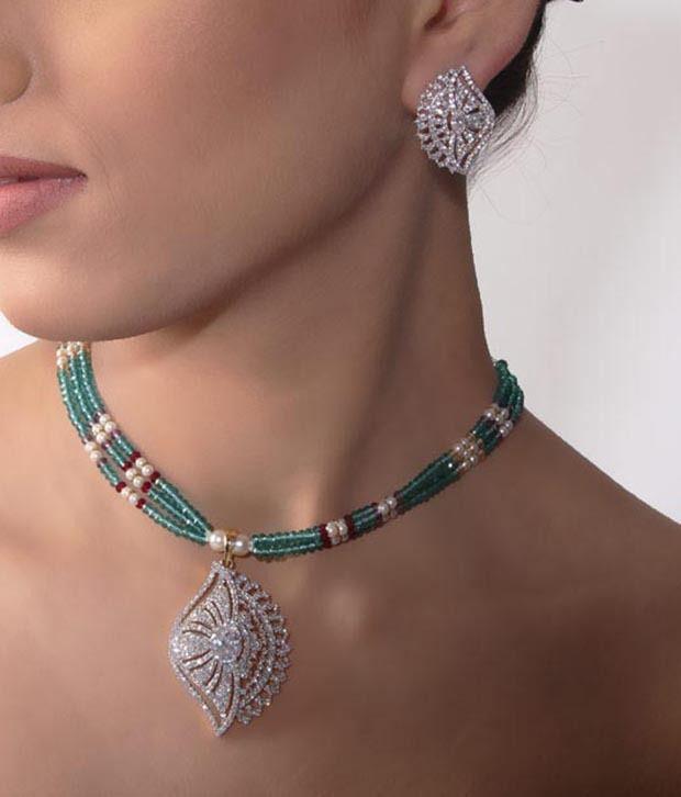 Bani-Thani Gurlz Gorgeous Gold Plated Necklace Set
