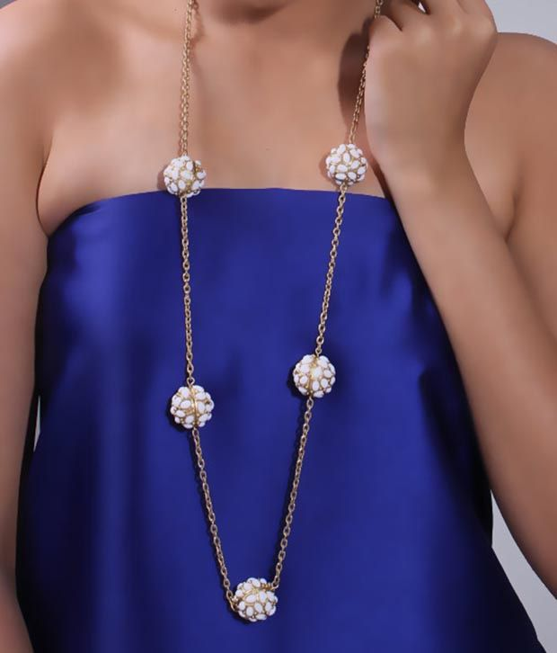Bansri Trendy Polki White Necklace