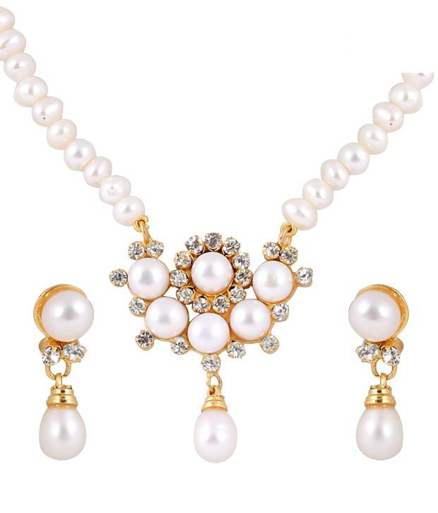 Deccan Appealing Fresh Water Pearl Necklace Set