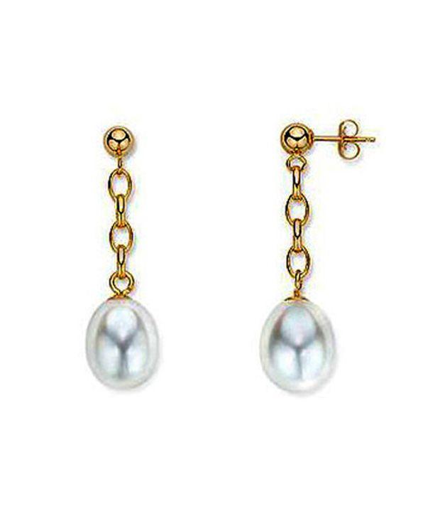 Facetz Divine Pearl & Gold Earrings