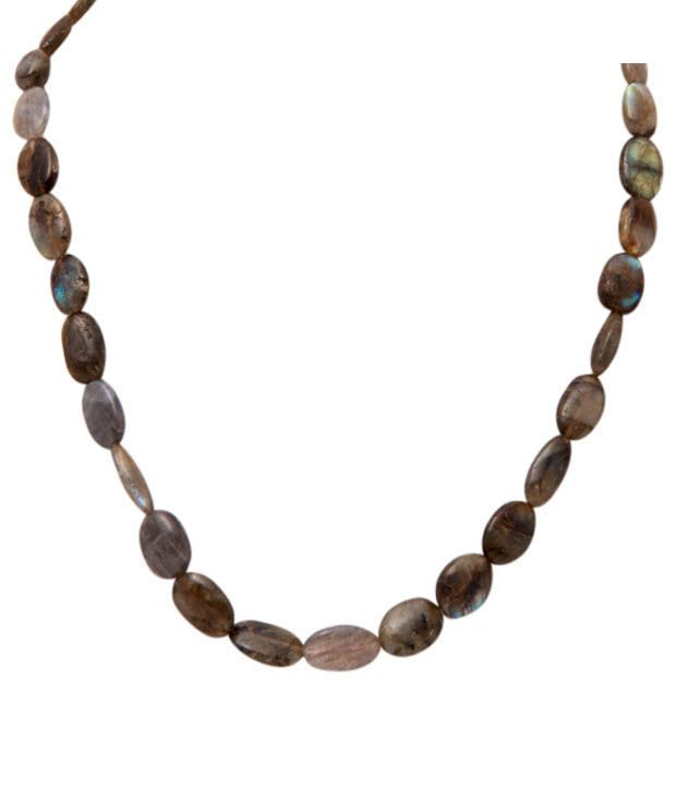 Freak's Oval Labradorite Gemstone String