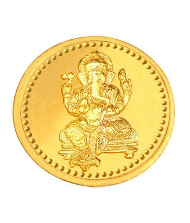 Infinium 24kt 1g 995 Purity BIS Hallmarked Ganesha Gold Coin