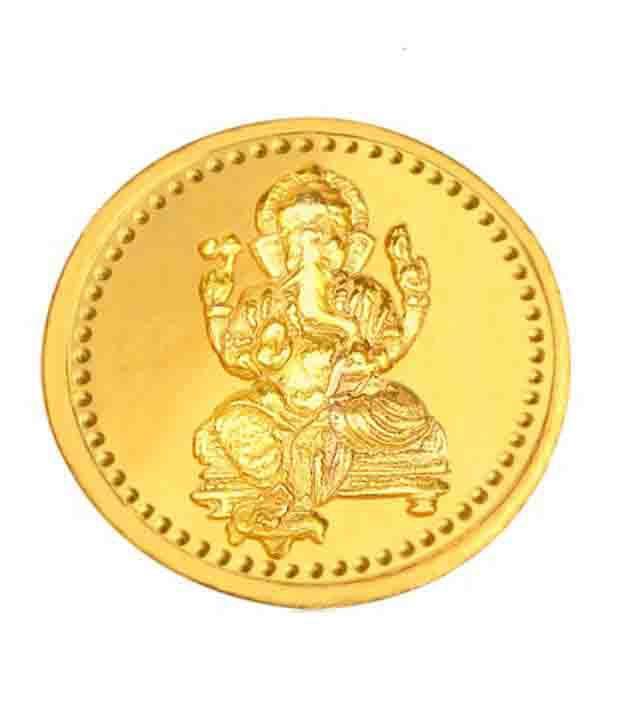 Infinium 24kt 2g 999 Purity ASSAY Certified Ganesh Gold Coin