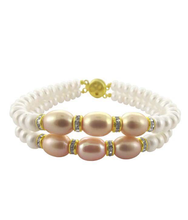 Sri Jagdamba Pearls 2 String Pearl Bracelet