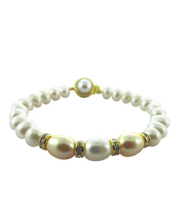 Sri Jagdamba Pearls Charismatic Pearl Bracelet