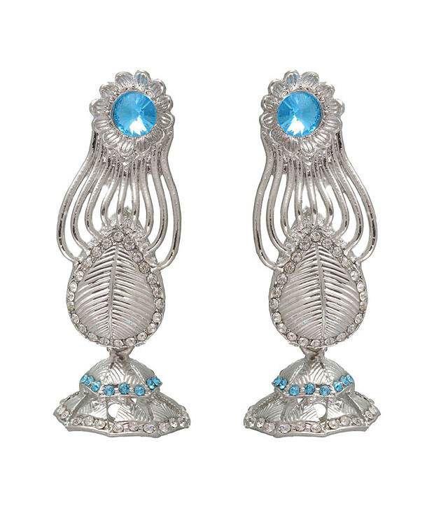 Kriaa Beautiful Turquoise Earrings