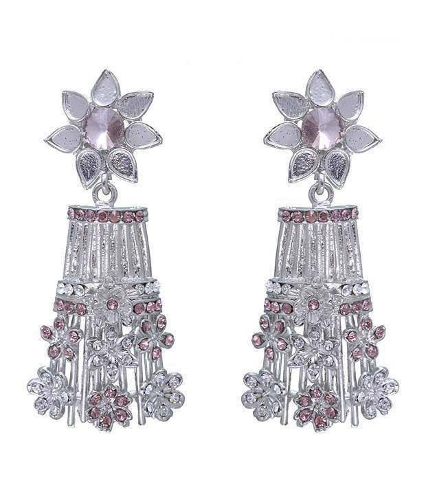 Kriaa Graceful Pink Earrings