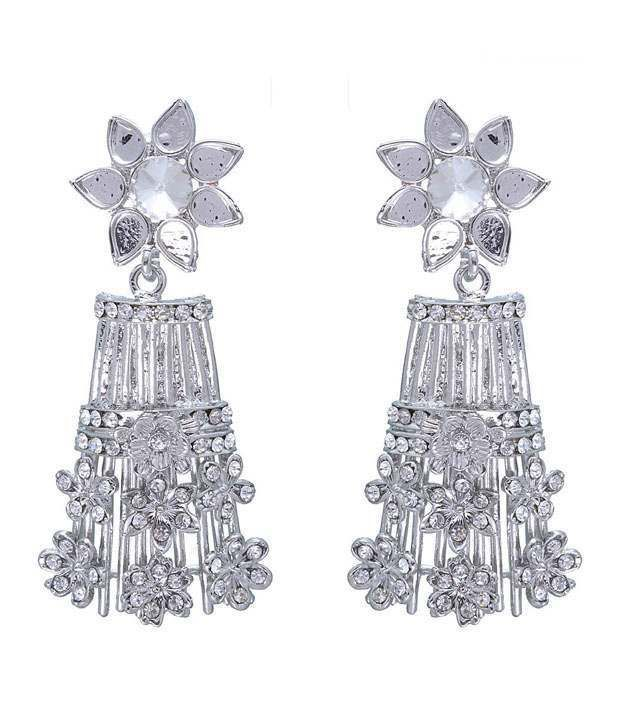 Kriaa Graceful White Earrings