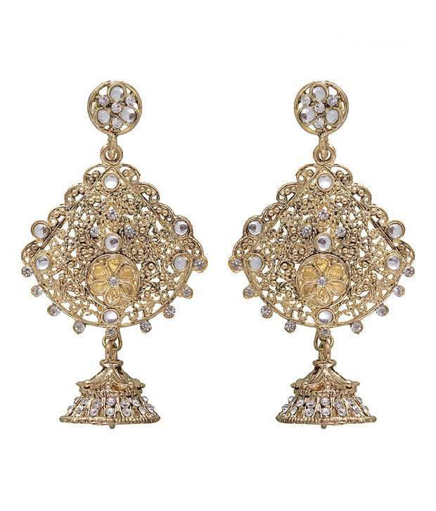 Kriaa Ravishing White Earrings