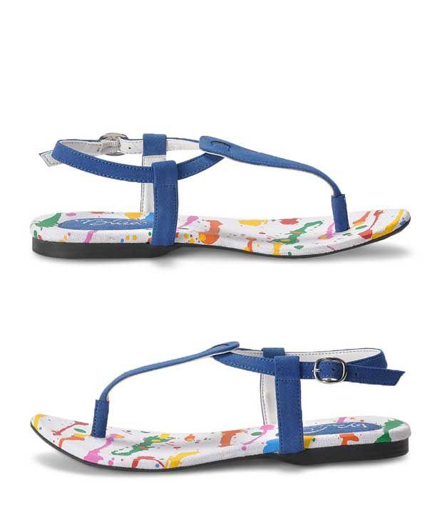 La Briza Classy Blue Flat Sandals