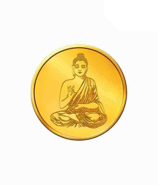 MNC 5 Gm 24kt Hallmarked Lord Buddha Gold Coin With 995 Fineness