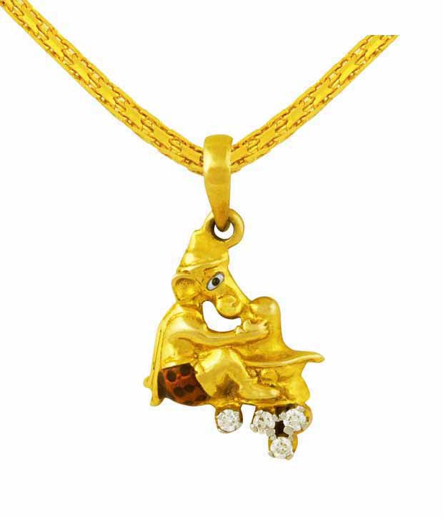 Mehrasons Diamond Ganesha Pendant