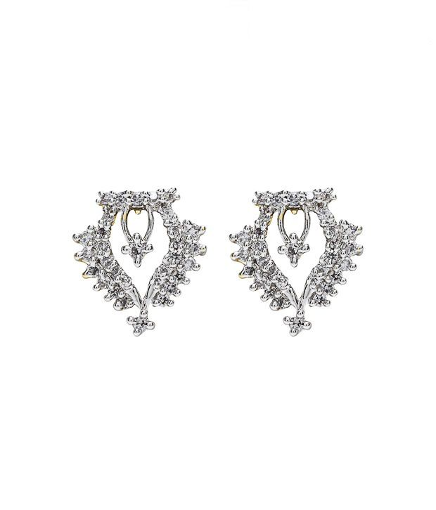 Noor Intricate AD Earrings