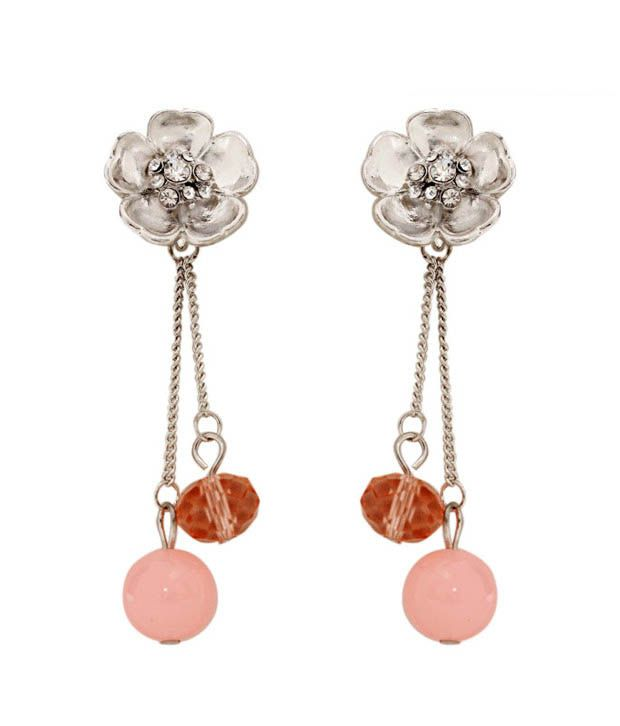 Pretty Woman Floral Crafted Drop Earrings