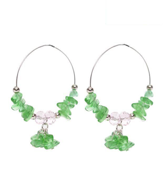 Pretty Woman Graceful Green Beads Earrings