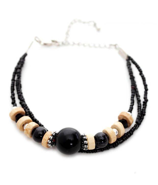 Pretty Woman Three String Wood & Bead Bracelet