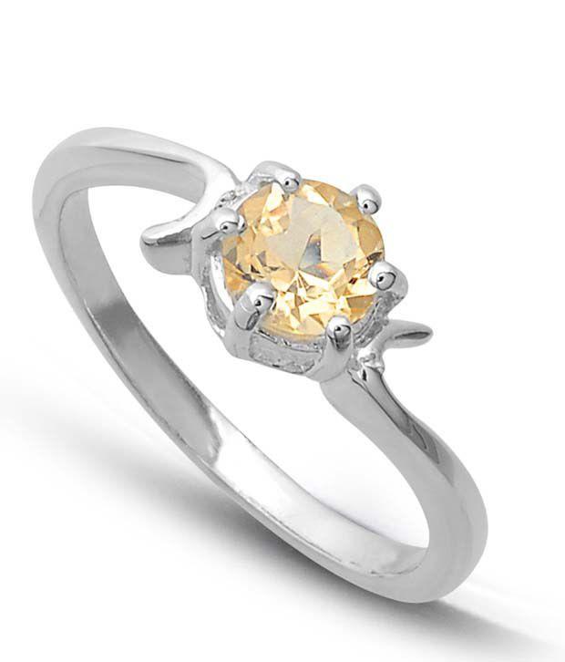Revlis Bespoke Citrine Silver Ring
