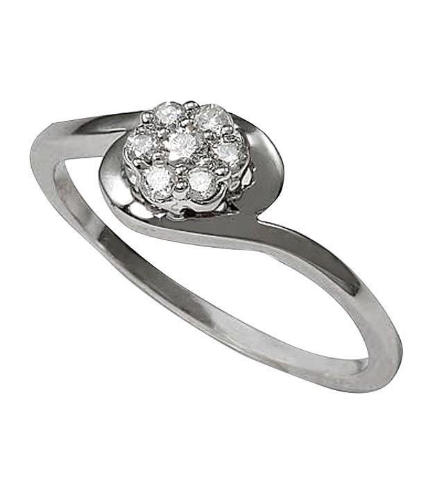 Sanskruti Sanskruti Elite Diamond Yellow Gold Ring (Multicolor)