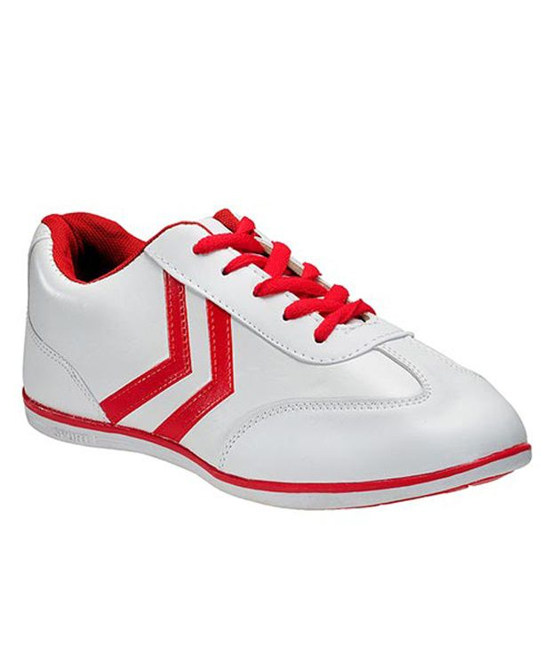 Yepme Comfortable White And Red Sports Shoes  available at snapdeal for Rs.399