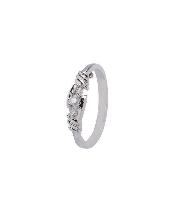 Erato Dainty Sterling Silver CZ Ring