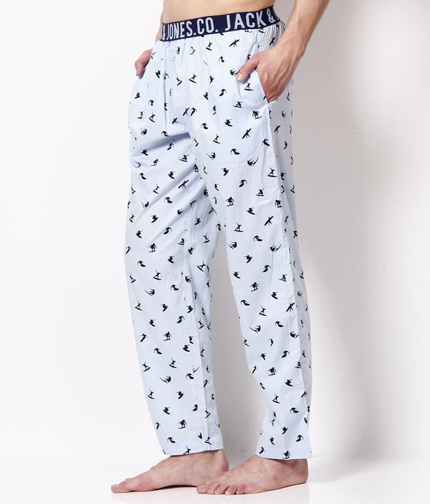 billig werden billiger 2018 Schuhe Jack & Jones Light Blue Printed Pyjama