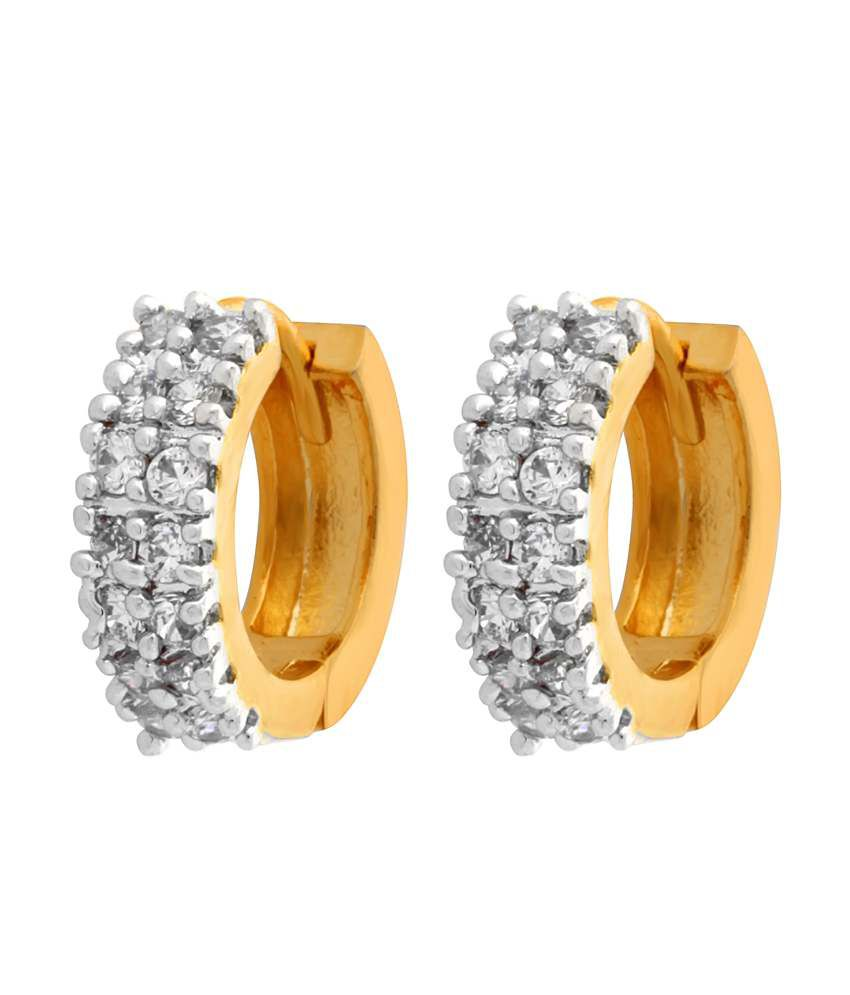 Alysa CZ Hoop Earrings