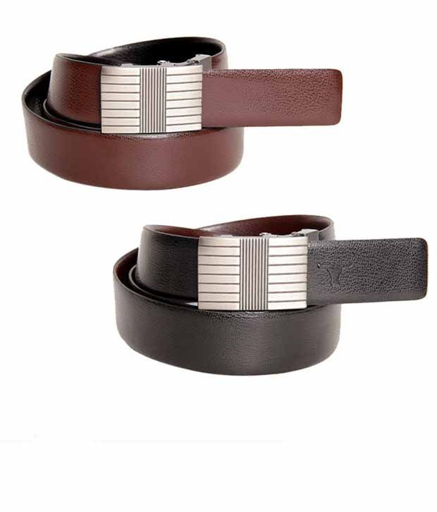 Bulchee Designer Black & Brown Reversible Belt