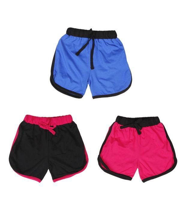 Robinbosky Dainty Multicolour Shorts For Kida Pack of 3
